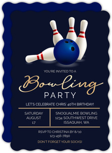 Fancy Bowling Birthday Invitation
