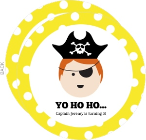 Personalized Face Pirate Birthday Invitation