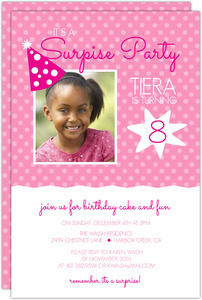 Birthday Party Hat Surprise Birthday Invitation