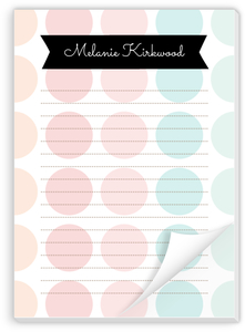 Color Burst Polka Dot Notepad