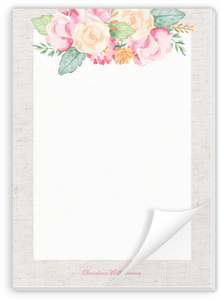 Delicate Floral Decor Personalized Notepad