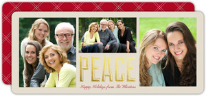 Peace Gold Foil Photo Collage Card