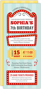 Fun Fair Kids Birthday Party Invitations