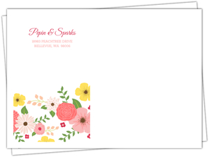 Chalkboard Country Floral Envelope
