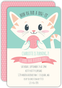Kitties Pawty Kitty Birthday Invitation