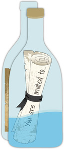 Message In The Bottle Pirate Party Invitation