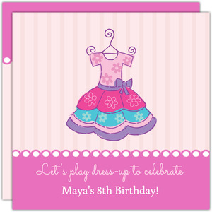Pink Party Dress Princess Party Invitation