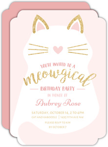 Meowgical Kitty Birthday Invitation