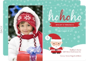 Whimsical Santa Kids Winter Birthday Invitation