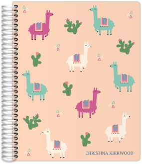 Llama And Cactus Monthly Planner