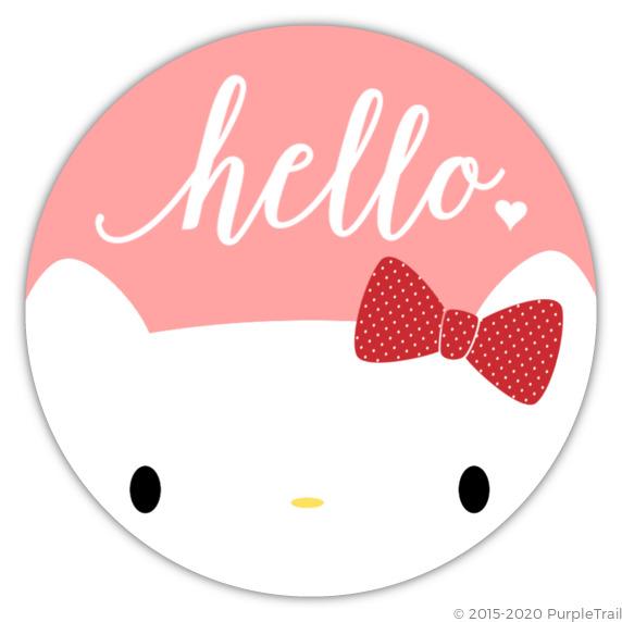 Hello Pink White Birthday Party Invitation Kitty Birthday Invitations