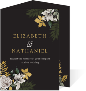Romantic Floral Trifold Wedding Invitation
