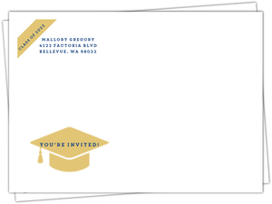 Team Spirit Graduation Custom Envelope