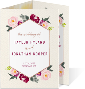 Boho Floral Trifold Wedding Invitation