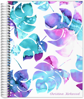 Ink Watercolor Palm Leaves Content Planner