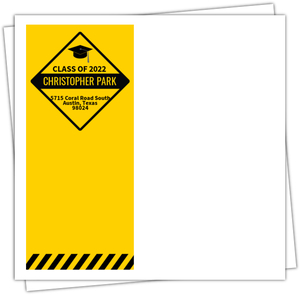 Caution Graduation Party Matching Full Custom Envelope