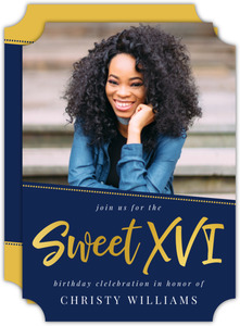 Simple & Bold Sweet 16 Birthday Invitation