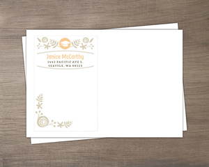 Peach Kraft Graduation full Custom Envelope