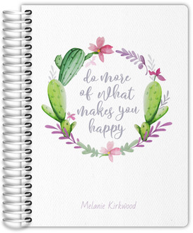 Whimsical Cactus Wreath Mom Planner
