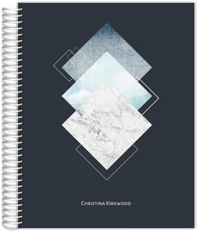 Modern Marble Diamond Collage Daily Planner
