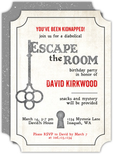 Escape Key Birthday Invitation