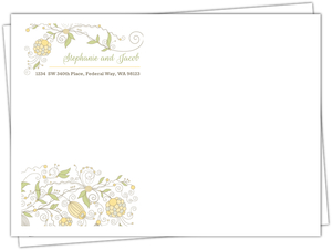 Beautiful Floral Pattern Envelope