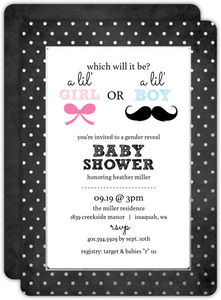 Chalkboard Foil Dots Neutral Baby Shower Invitation