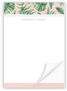 Delicate Watercolor Greens Custom Notepad