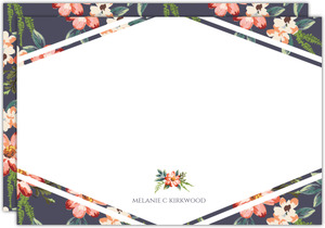 Delicate Watercolor Floral Custom Notecard