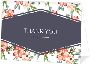 Delicate Watercolor Floral Thank You Card