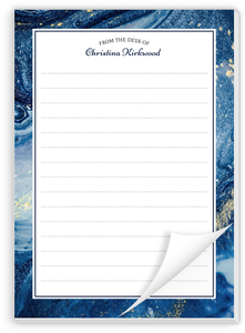 Royal Blue Ink Custom Notepad