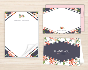 Delicate Watercolor Floral Stationery Set