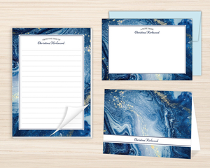Royal Blue Ink Stationery Set