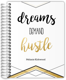 Dreams Demand Hustle Faux Foil Weekly Planner
