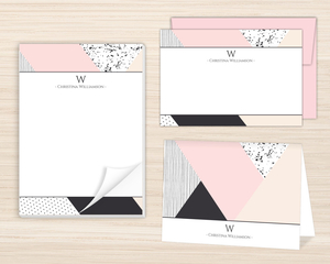 Soft Color Block Stationery Set