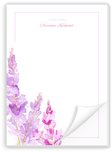 Watercolor Lilac Custom Notepad
