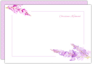 Watercolor Lilac Custom Notecard