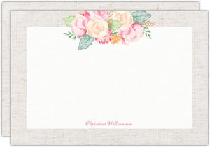 Delicate Floral Decor Personalized Notecard