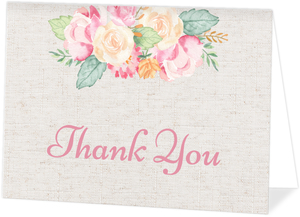 Delicate Floral Decor Thank You Card