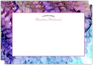 Ink Dot Pattern Personalized Notecard