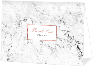 Faux Rose Gold Marble Thank You Card