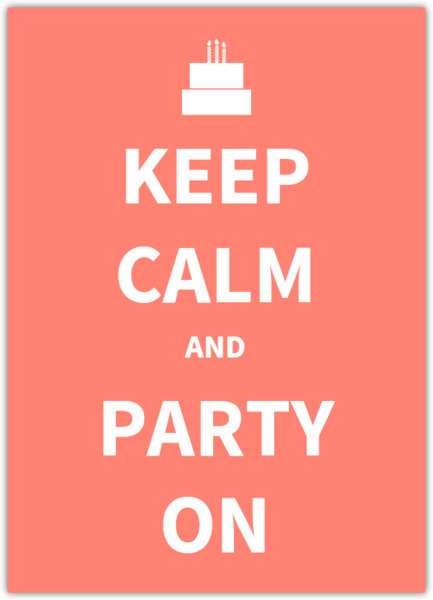 Keep calm and party on invitation teen birthday invitation keep calm and party on invitation filmwisefo