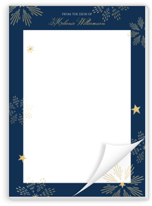 Sparkly Stars Personalized Notepad