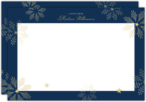 Sparkly Stars Personalized Notecard