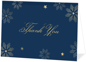 Sparkly Stars Thank You Card