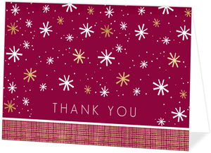 Modern Seasons Greetings Thank You Card