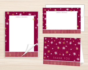 Modern Seasons Greetings Stationery Set
