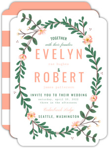 Spring Greenery Florals Wedding Invitation