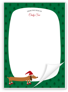 Cute Dog Christmas Notepad