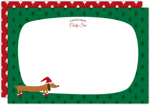 Cute Dog Christmas Notecard